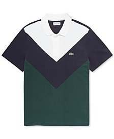 Men's Regular-Fit  Performance Pique Colorblocked Polo