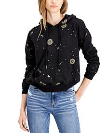 Juniors' Celestial-Print Hoodie Sweatshirt
