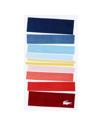 Spectrum Cotton Colorblocked Stripe Beach Towel