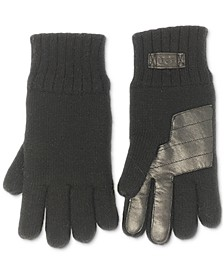 Men's Knit Glove with Palm Patch