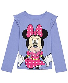 Little Girls Mickey Minnie Long Sleeve T-shirt