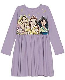 Little Girls Princess Holiday Long Sleeve Dress