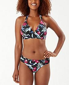 Midnight Orchid Halter Bikini Top & Reversible Hipster Bikini Bottoms