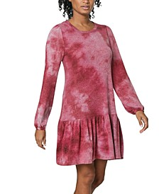 Juniors' Tie-Dye Drop-Waist Dress