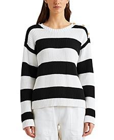 Petite Striped Sweater