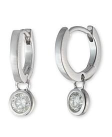 Sterling Silver Cubic Zirconia Huggie Earring