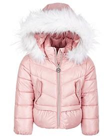 Toddler Girls Peplum Puffer Coat