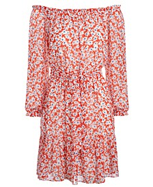 INC Floral-Print Fit & Flare Dress, Created for Macy's