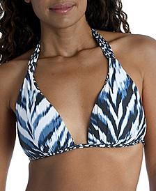 Reversible Printed Halter Bikini Top