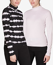 Juniors' Mock-Neck Tops 2-Pack