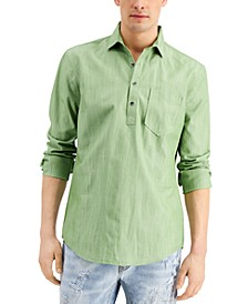Men's Chambray Popover Shirt, Created for Macy's