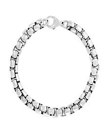 EFFY® Men's Box Link Chain Bracelet in Sterling Silver