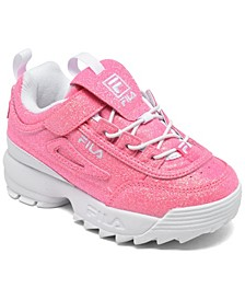 Toddler Girls Disruptor II Glimmer Stay-Put Closure Casual Sneakers from Finish Line