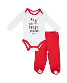 Boys My First Christmas 2-PC. Pant Set