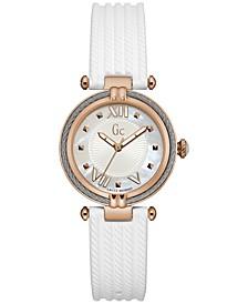 Women's Swiss White Silicone Strap Watch 32mm