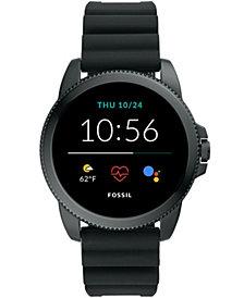 Fossil Men's Gen 5E Smartwatch Black Silicone 44mm