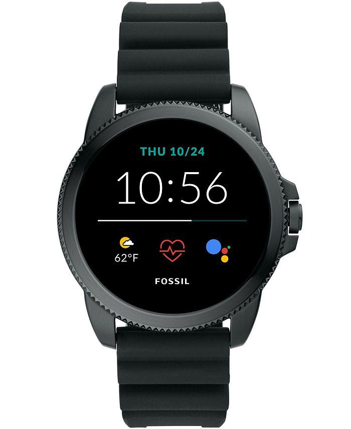 Fossil - Men's Gen 5E Smartwatch Black Silicone 44mm