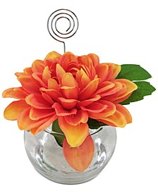 Exotic Escape Artificial Dahlia Placecard Holder, Created for Macy's
