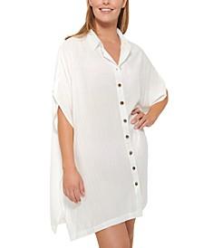 Royal Belize Shirtdress Cover-Up