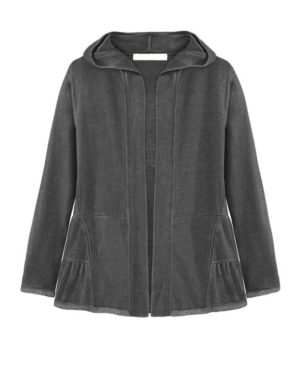 Women's Teired Hooded Cardigan