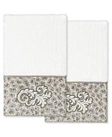 Textiles April Embellished Hand Towel Set, 2 Piece