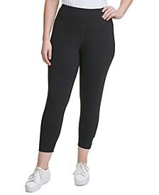 Plus Size High-Waist Logo Pants