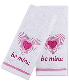 "Be Mine 2-Pc. 11"" x 18"" Fingertip Towel Set, Created for Macy's"