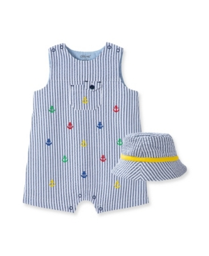 Little Me BABY BOYS ANCHOR SUNSUIT AND HAT SET