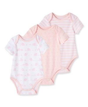 Little Me Bodysuits BABY GIRLS ELEPHANT 3 PACK BODYSUITS
