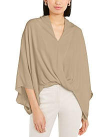 Wide-Sleeve Surplice Blouse, Created for Macy's