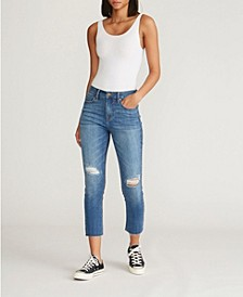 Women's Midrise Crop Straight Jean