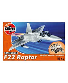 Lockheed Martin F22 Raptor Jet Brick Building Plastic Model Kit - J6005