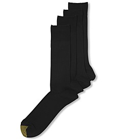 Men's Socks, Dress Flat Knit 4 Pack, Created for Macy's