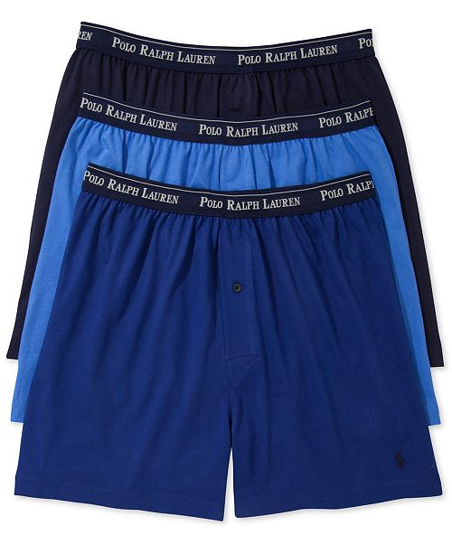 UnderwearClassic Lauren Knit Ralph Men's Polo 3 Pack Boxer LqzGpSMUV