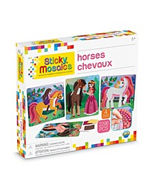 Horses Design Mosaic Craft by Numbers Kit - 2296 Pieces