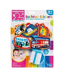Foam Bathtub Stickers with Mesh Storage Bag