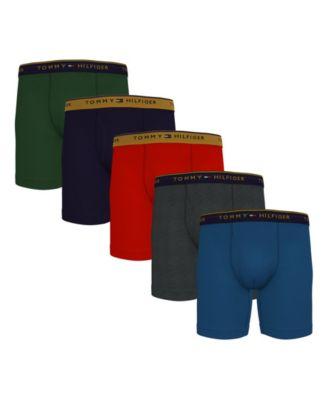타미 힐피거 Tommy Hilfiger Mens 5-Pk. Cotton Classics Boxer Briefs,Bermuda