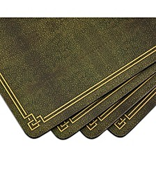Shagreen Leather Placemats, Set of 4