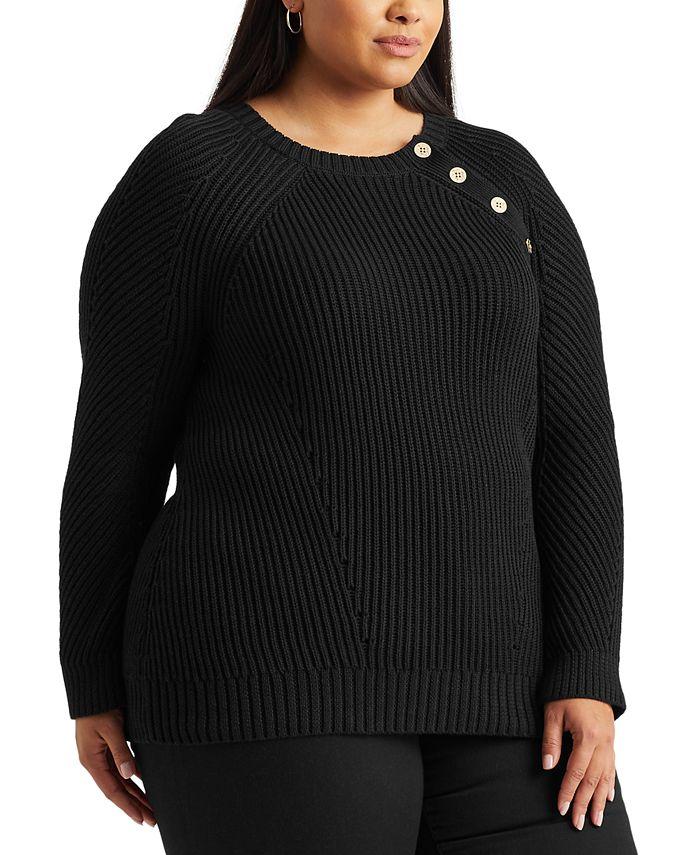 Lauren Ralph Lauren - Plus Size Cotton Sweater