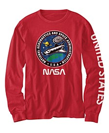 Big Boys NASA USA Patches T-shirt