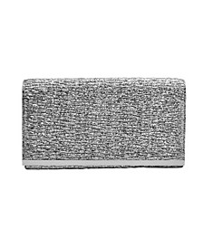 Mini Pleated Metallic Faux Leather Crossbody