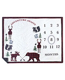 Boys and Girls Plush Holiday and Milestone Blanket