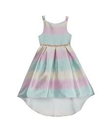Toddler Girls Ombre Jacquard Dress