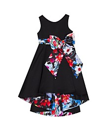 Toddler Girls Printed Bow Dress