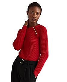 Shoulder-Button Sweater
