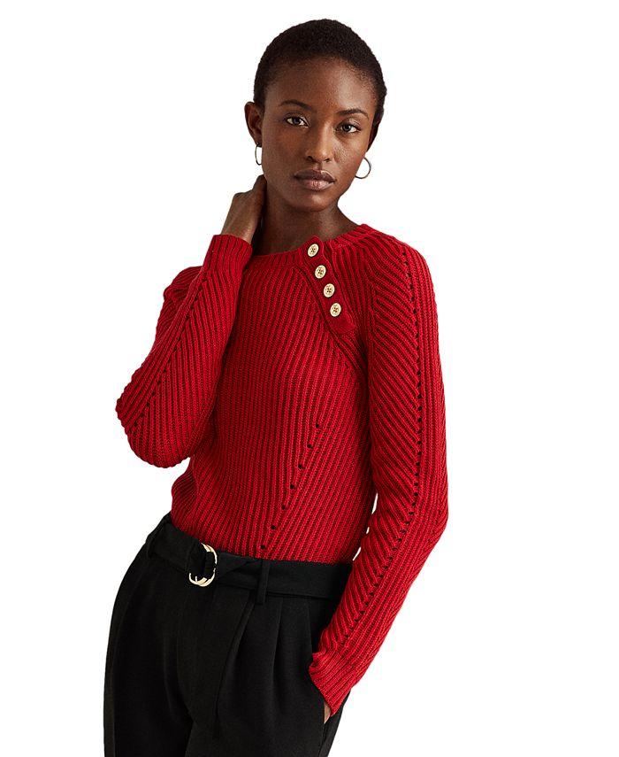 Lauren Ralph Lauren - Shoulder-Button Sweater