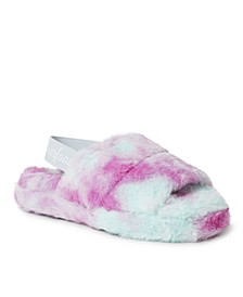 Women's Luna Furry Slide with Elastic Strap