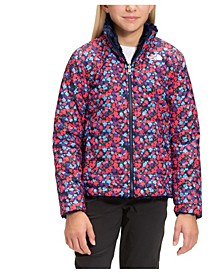 Little & Big Girls Reversible Mossbud Swirl Jacket
