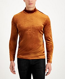 INC Men's Dominic Velvet Turtleneck Sweater, Created for Macy's
