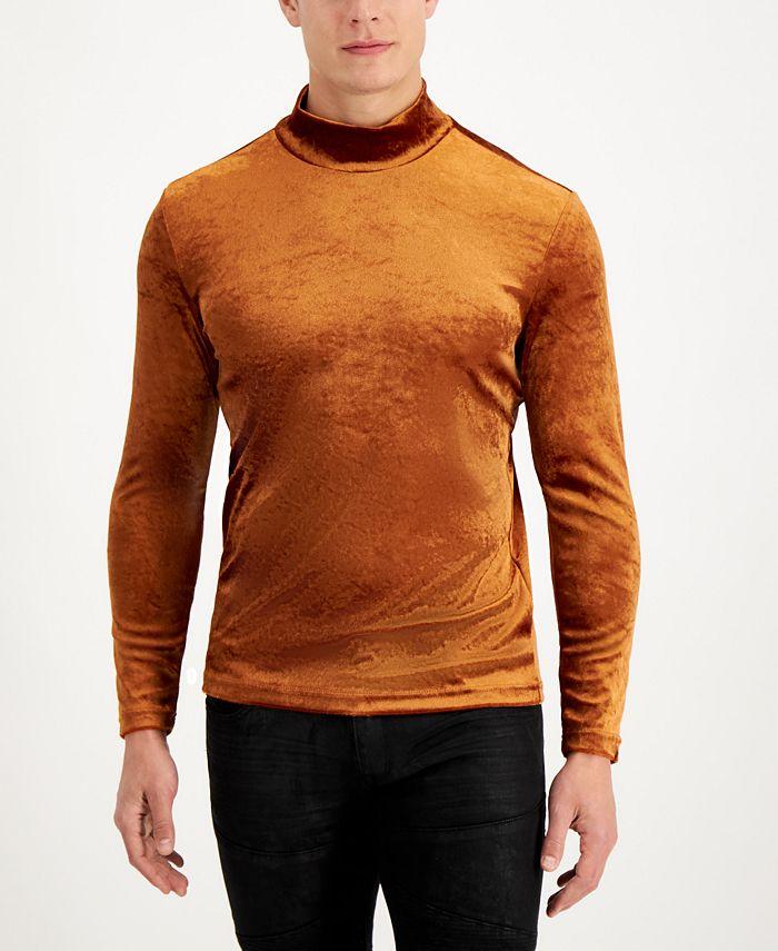 INC International Concepts - Men's Dominic Velvet Turtleneck Sweater, Created for Macy's